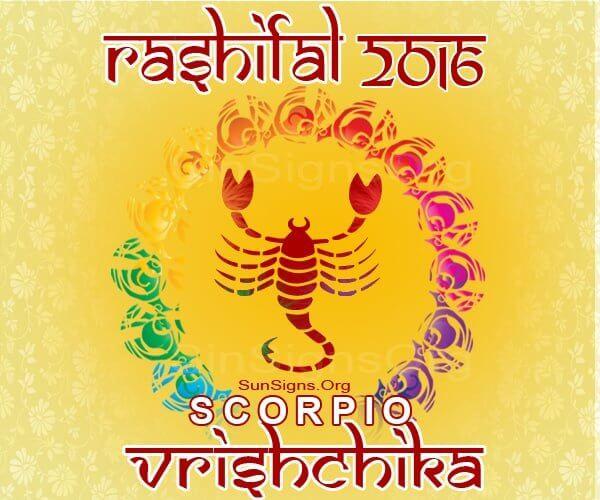 Vrishchik 2016 Rashifal Predictions