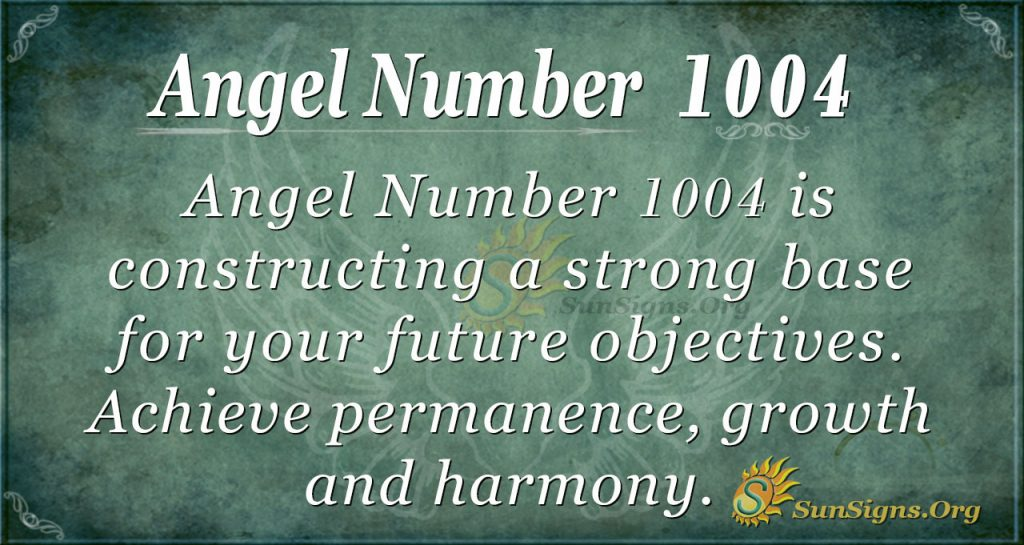 angel number 1004