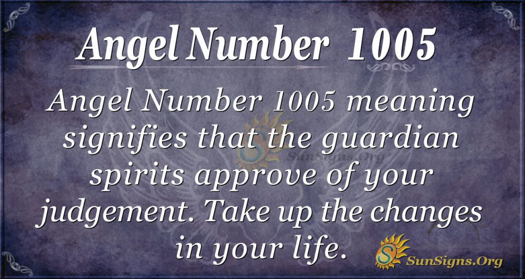angel number 1005