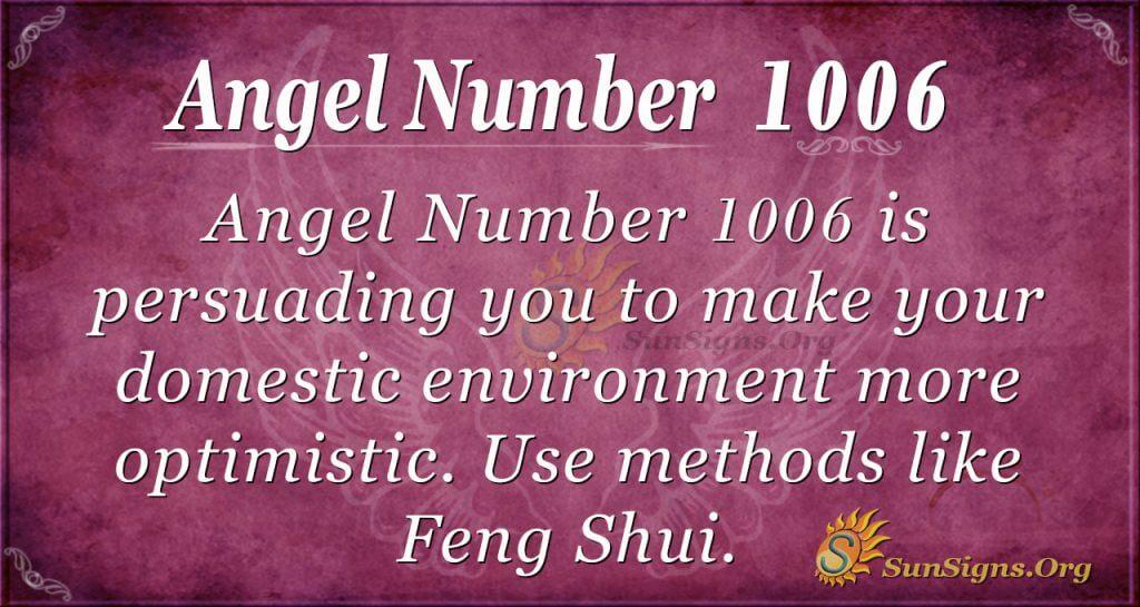 angel number 1006