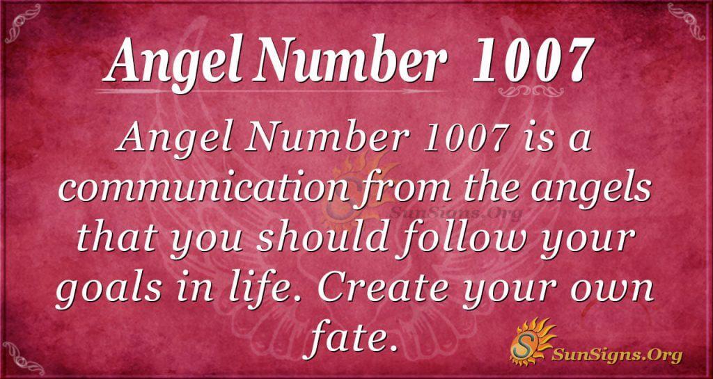 angel number 1007
