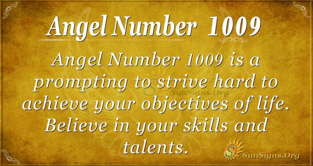 angel number 1009