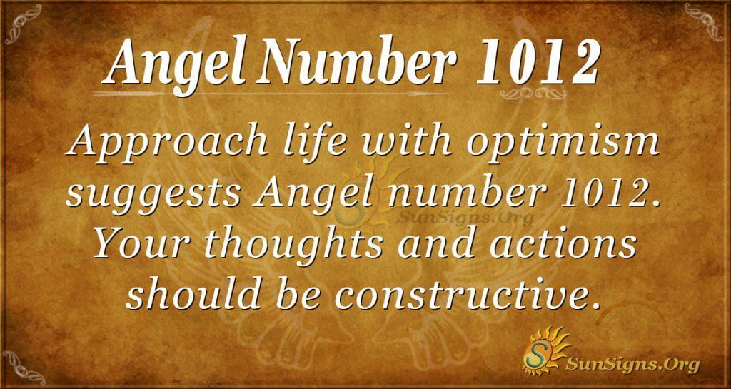 angel number 1012