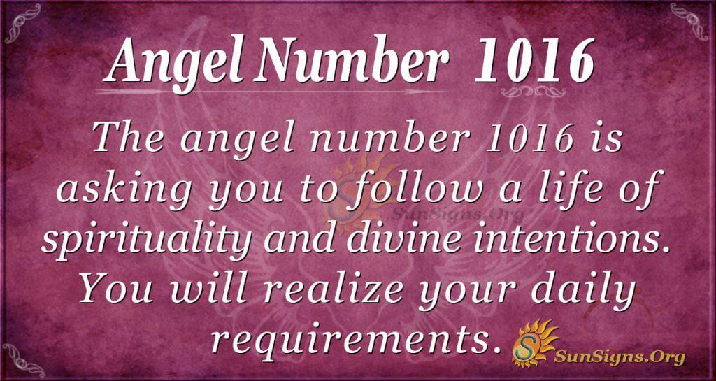 angel number 1016