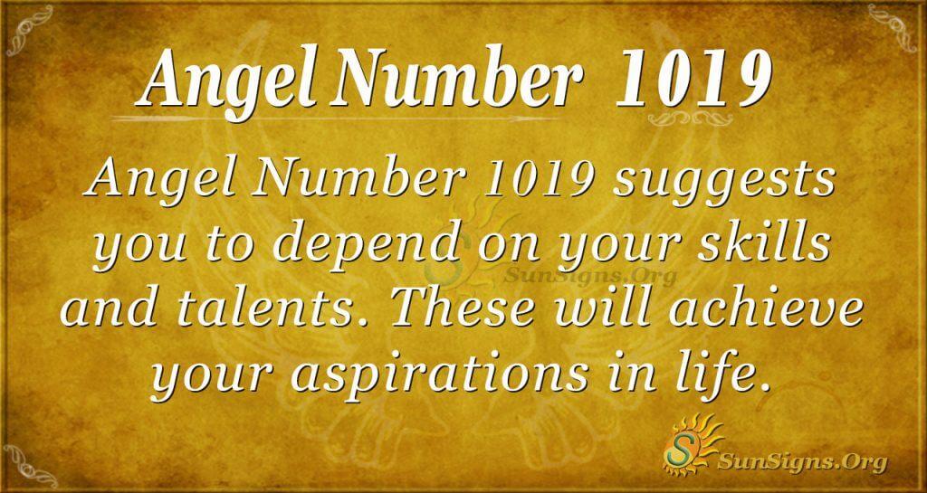 angel number 1019