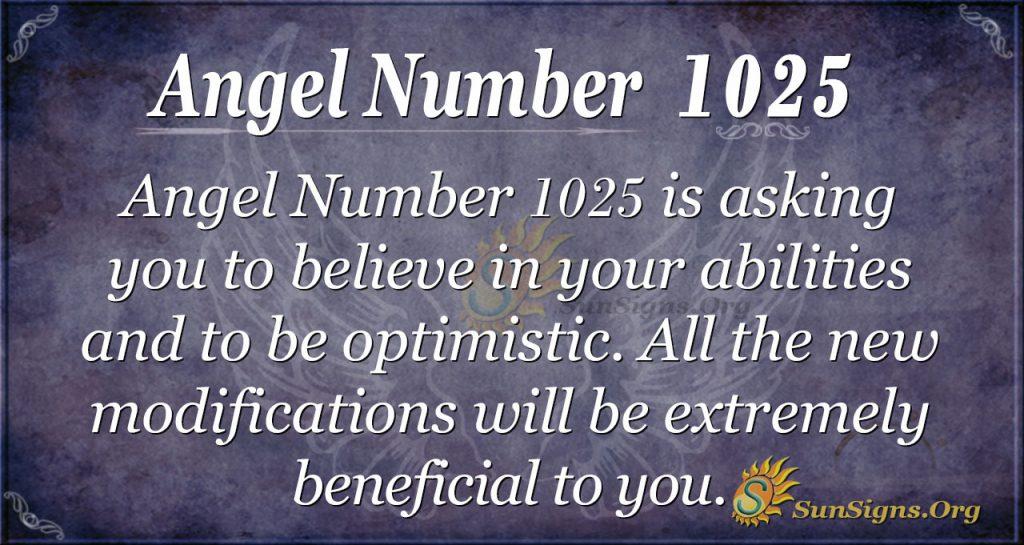 angel number 1025