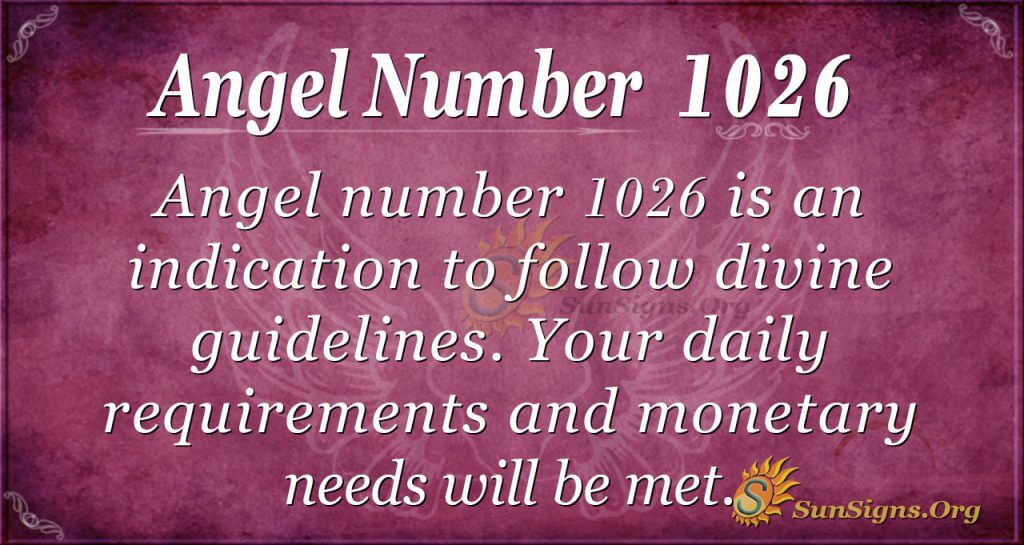 angel number 1026