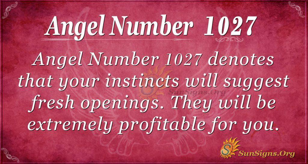 angel number 1027