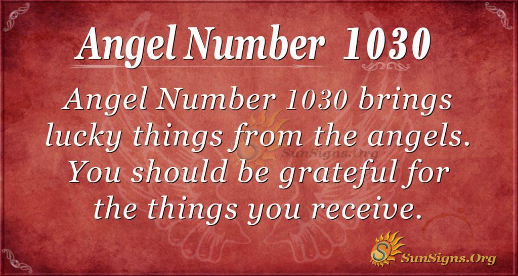 angel number 1030