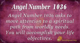 angel number 1036