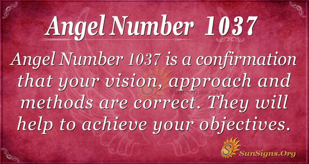 angel number 1037