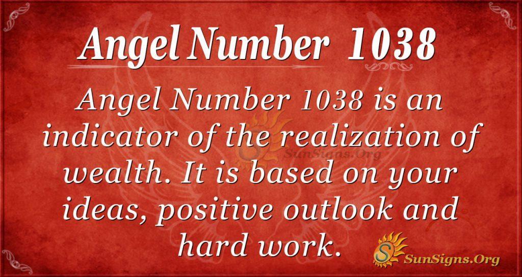 angel number 1038