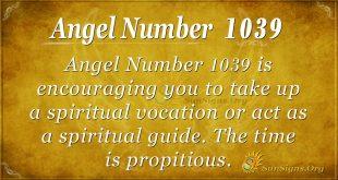 angel number 1039