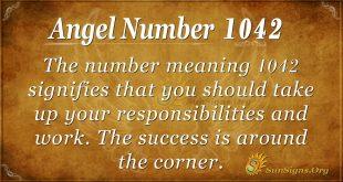 angel number 1042