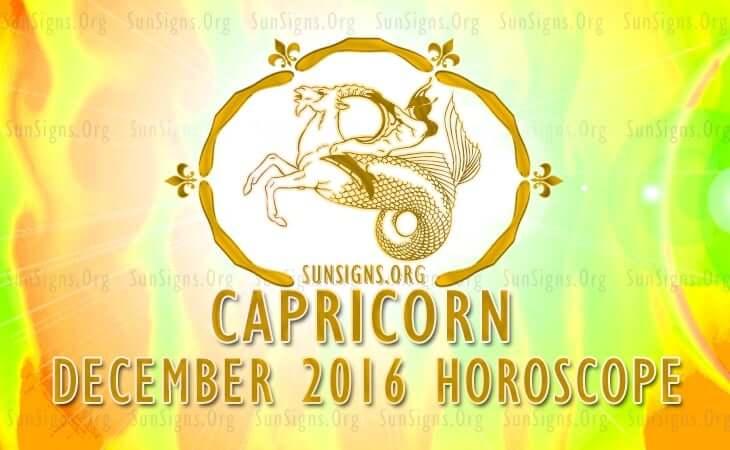 capricorn december 2016 horoscope