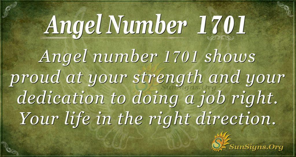 Angel Number 1701