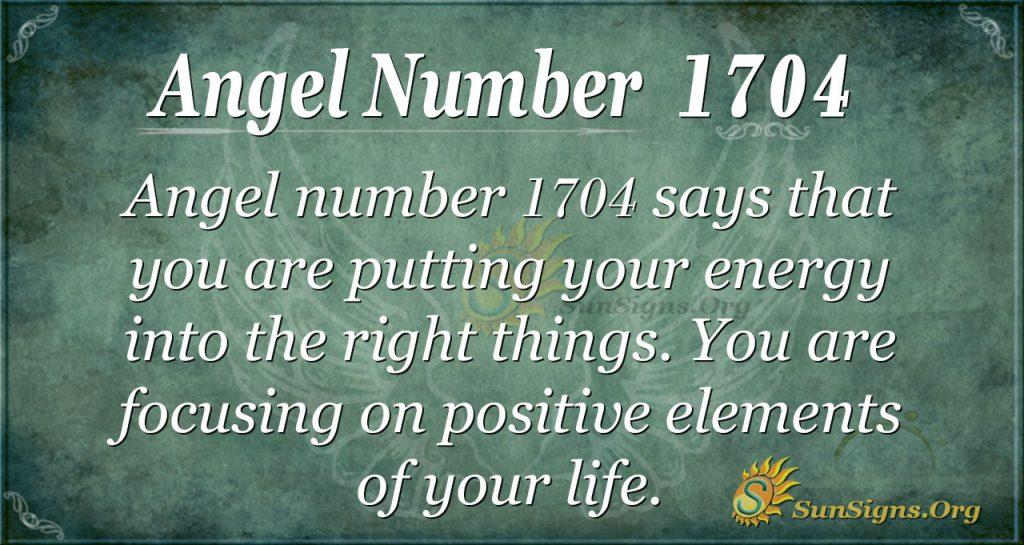 Angel Number 1704