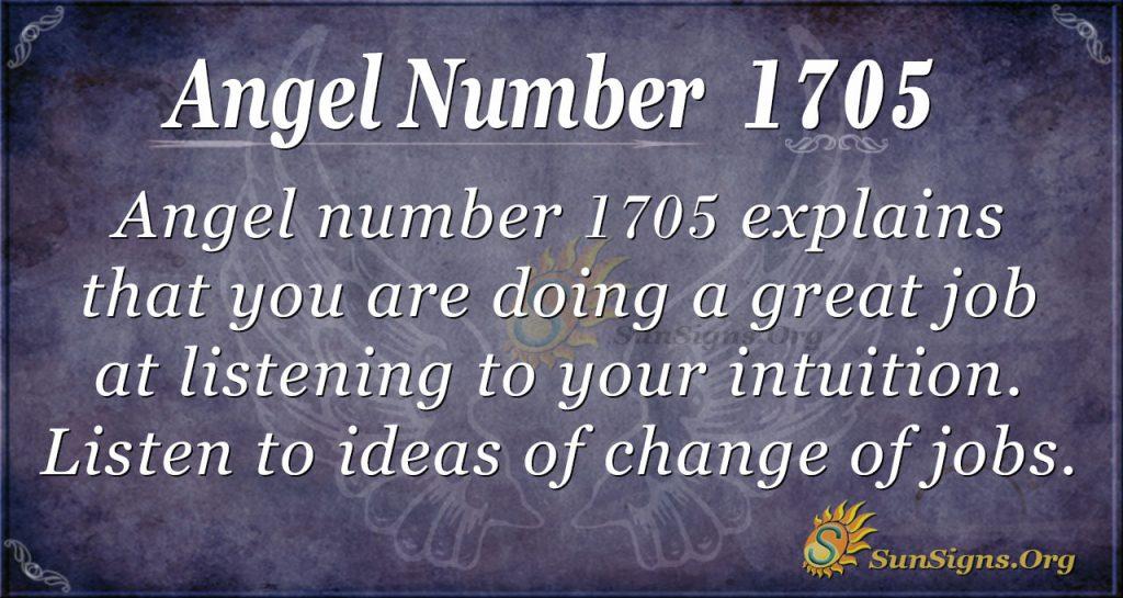 Angel Number 1705