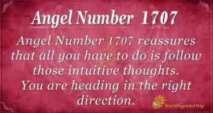 Angel Number 1707