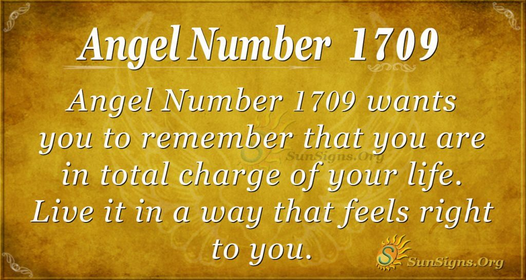 Angel number 1709