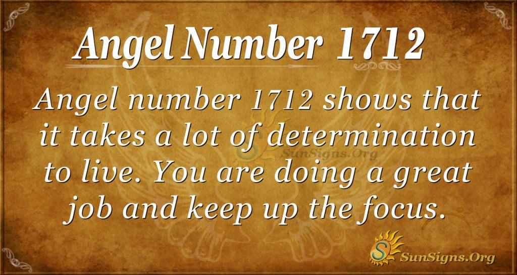 Angel Number 1712