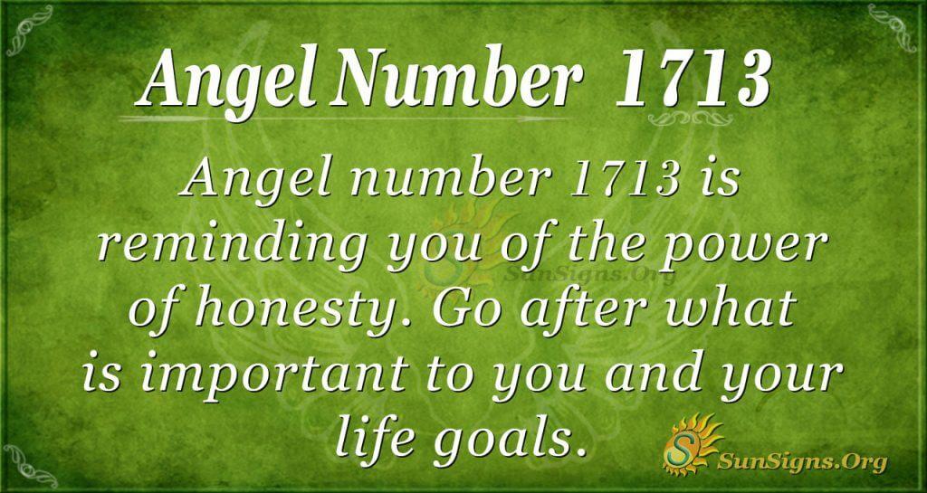 Angel Number 1713