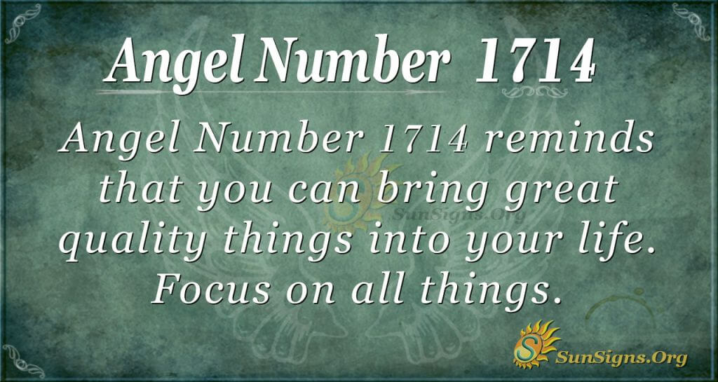 Angel Number 1714
