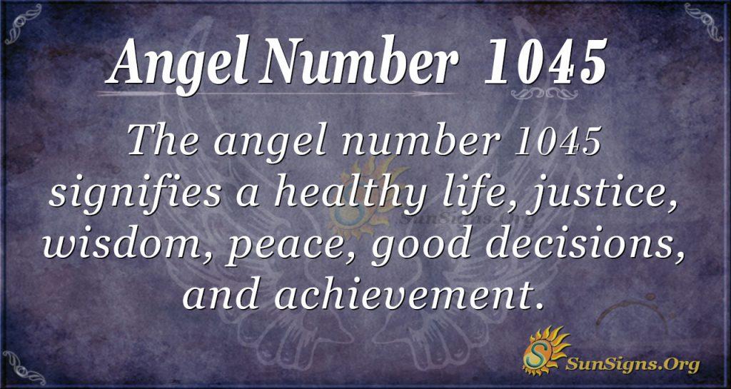 angel number 1045