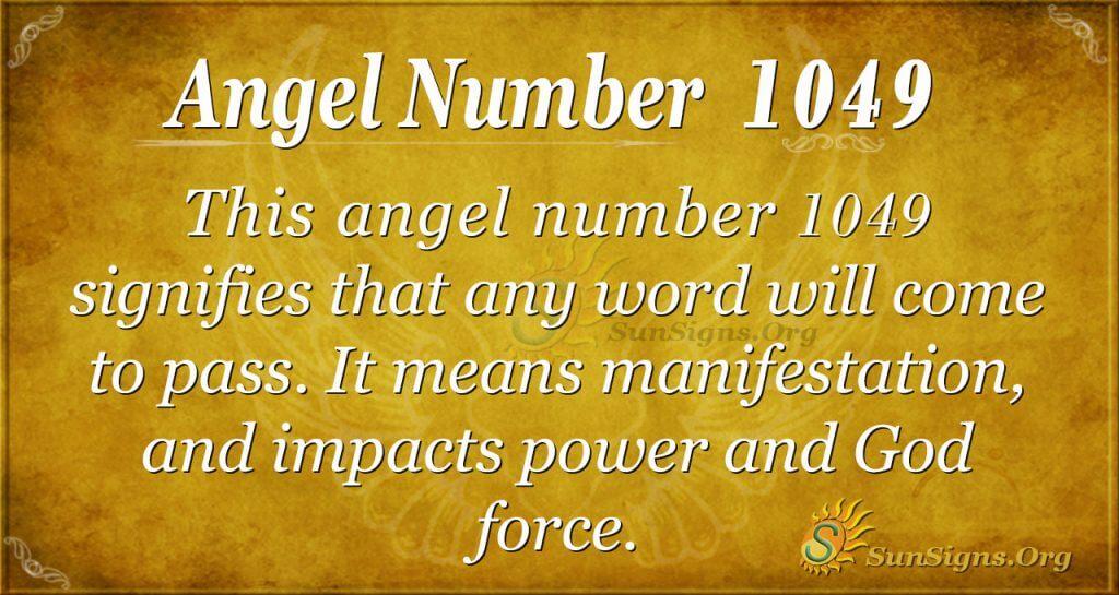 angel number 1049