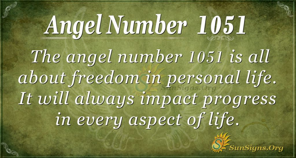 angel number 1051