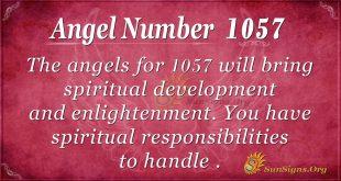 angel number 1057