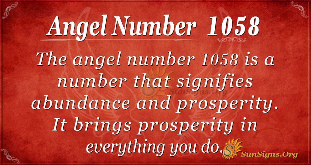 angel number 1058