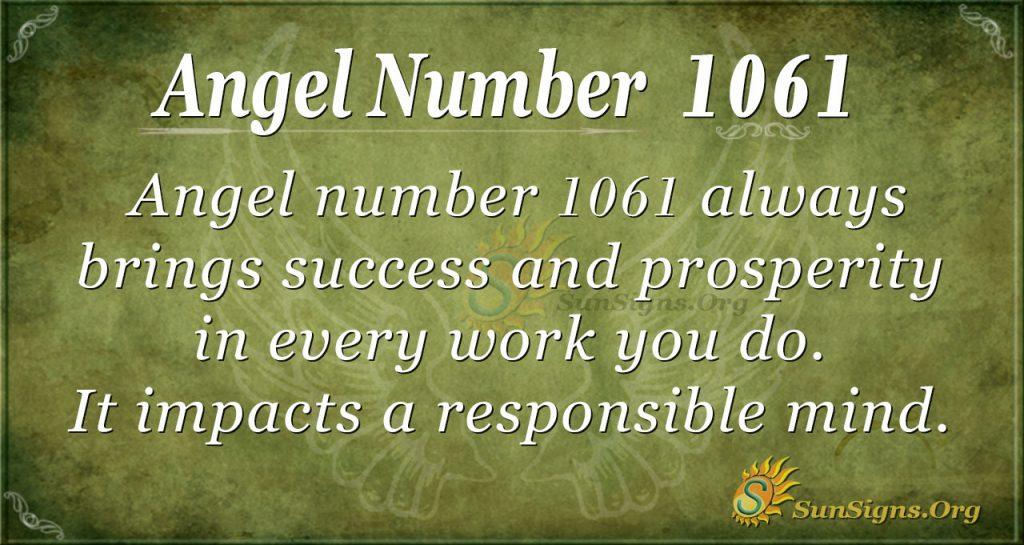 angel number 1061