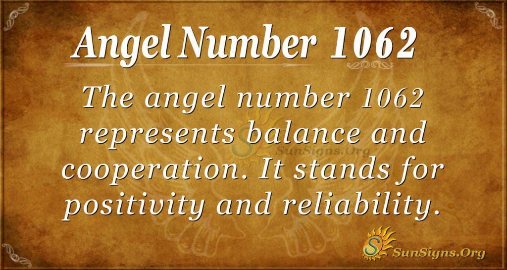 angel number 1062