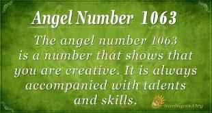 angel number 1063