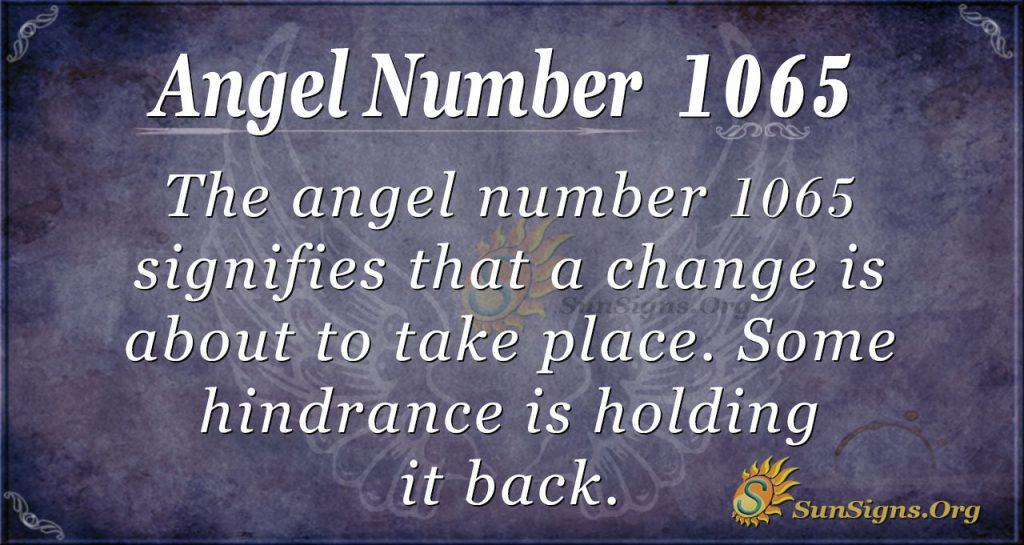 angel number 1065