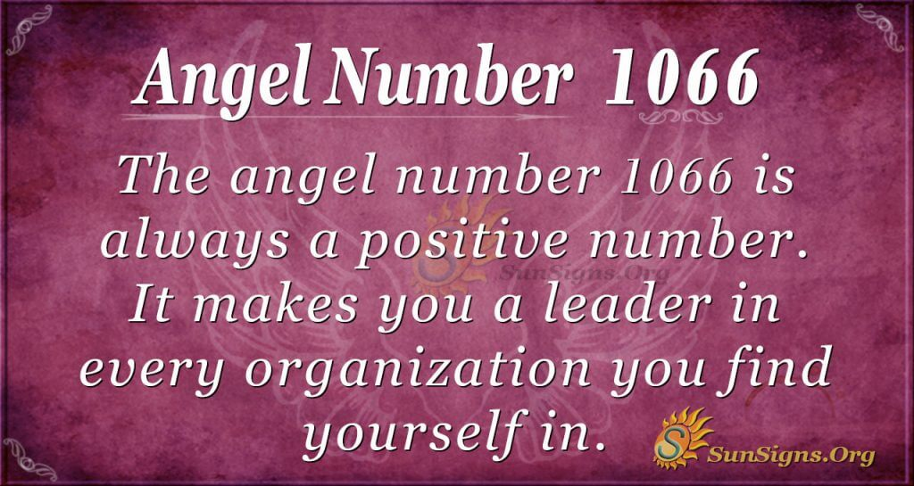 angel number 1066