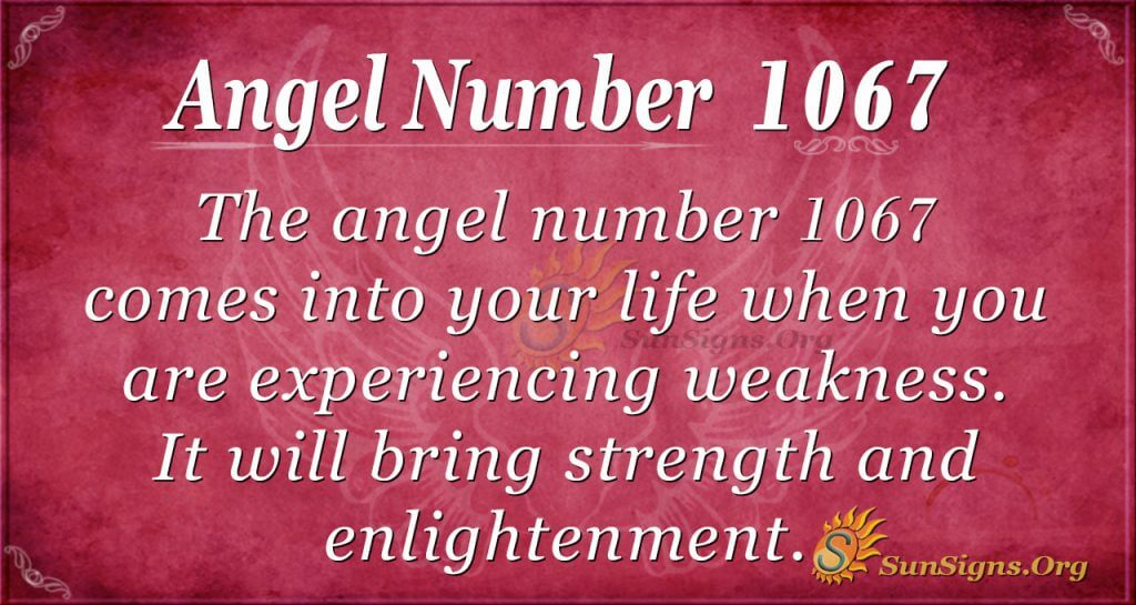 angel number 1067