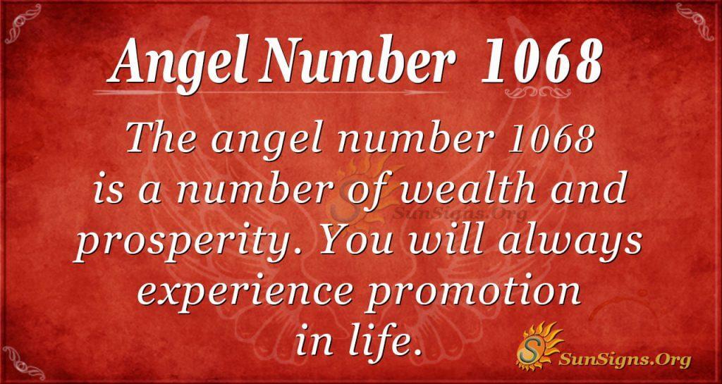 angel number 1068