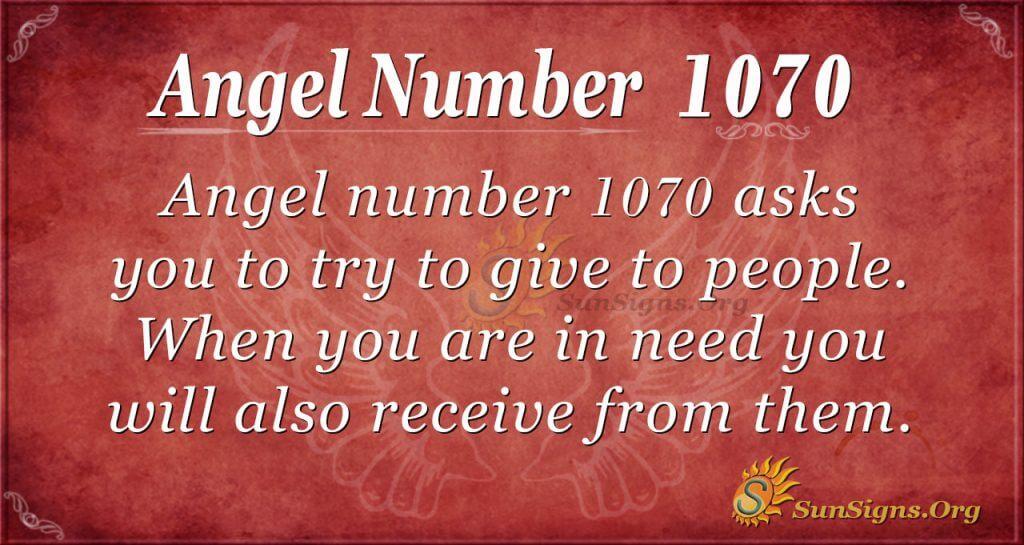 angel number 1070