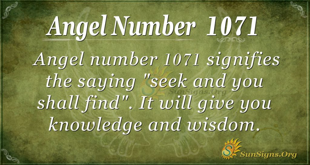 angel number 1071