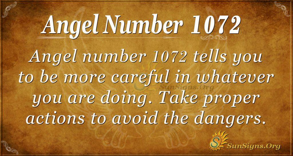 angel number 1072