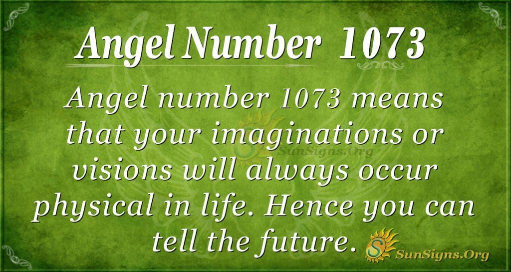 angel number 1073