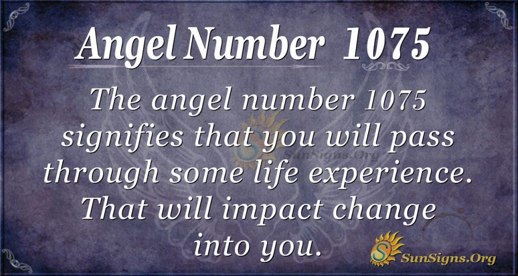 angel number 1075