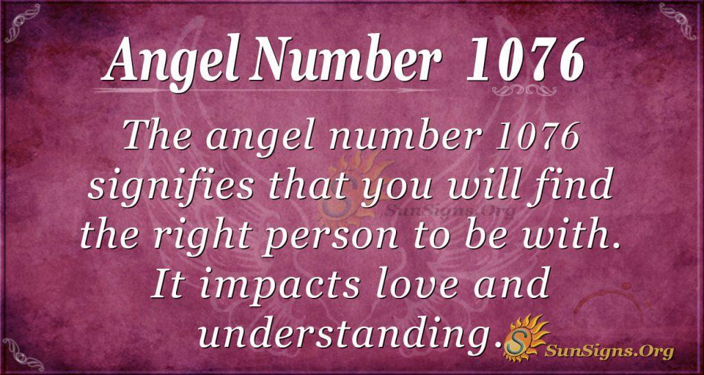 angel number 1076