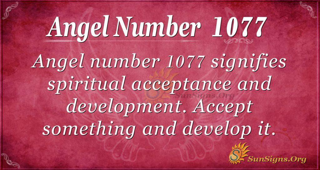 angel number 1077