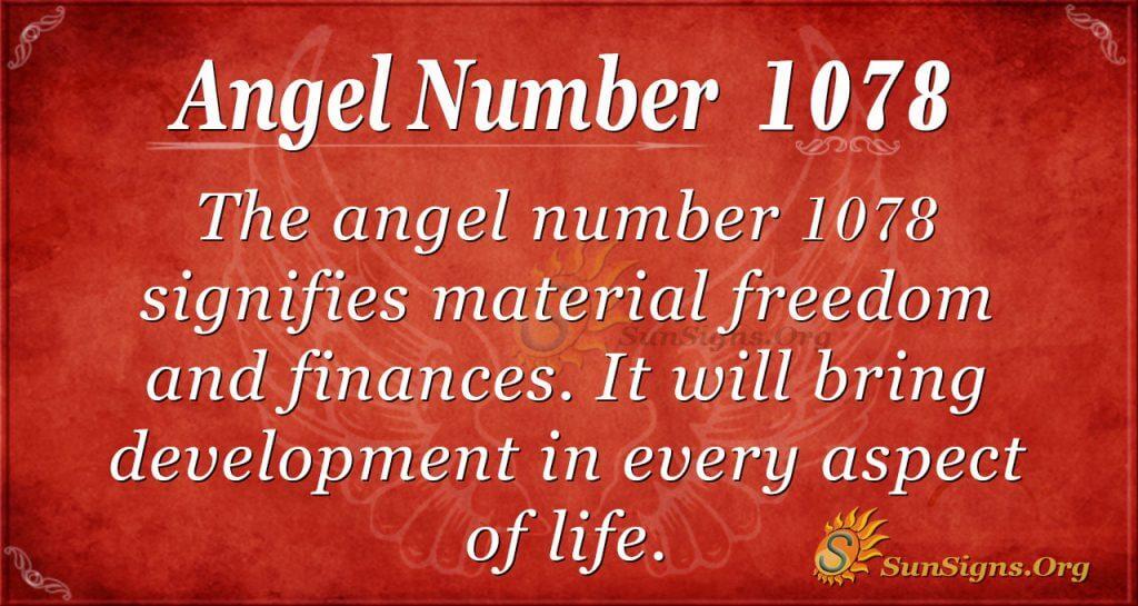 angel number 1078