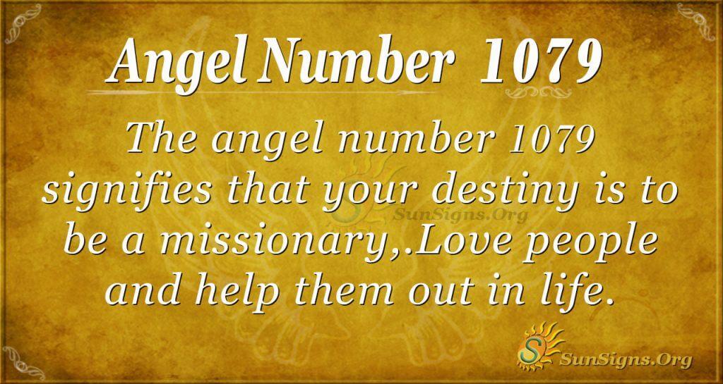 angel number 1079