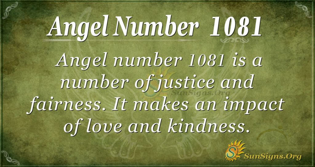 angel number 1081