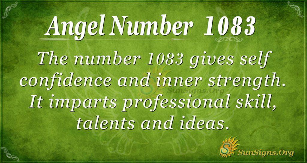 angel number 1083